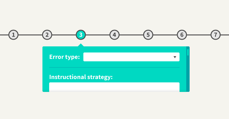 Error Type to Instructional Strategy