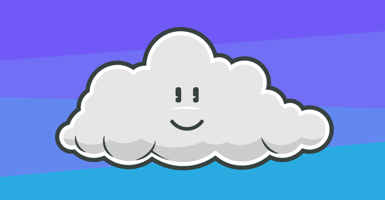 A happy cloud