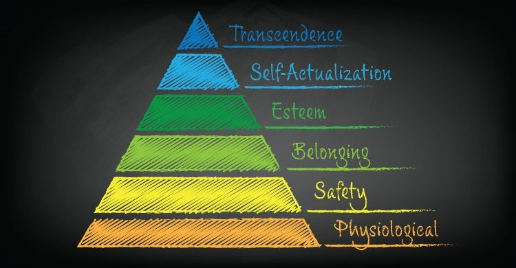 Physiological, Safety, Belonging, Esteem, Self-Actualization, and Transcendence